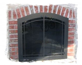 Glass screen doors archives northshore fireplace arch glass door 4 planetlyrics Image collections